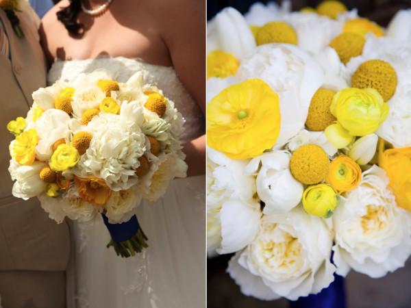 Свадебный желтый букет