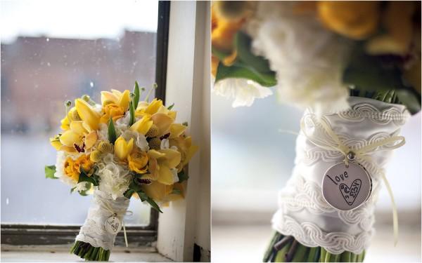 Желтый букет на свадьбу