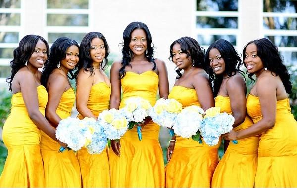 Свадьба желтая