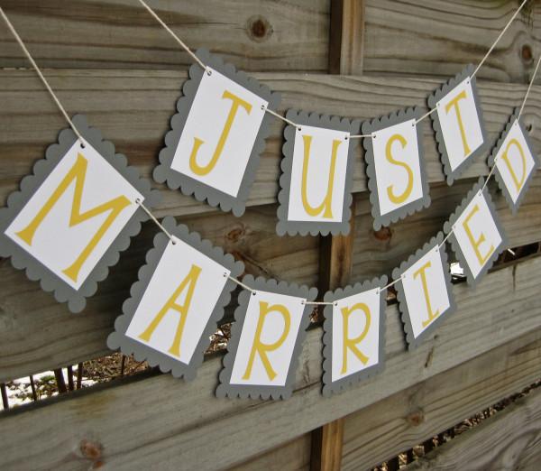 Украшения желтой свадьбы