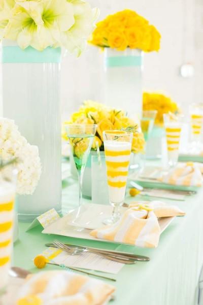 Оформление зала в желтом цвете