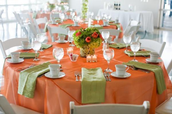 Зелено-оранжевая свадьба