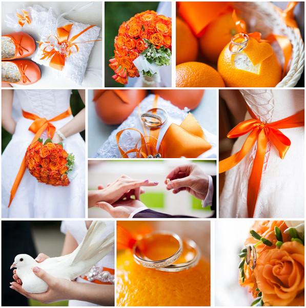 оранжевые аксессуары