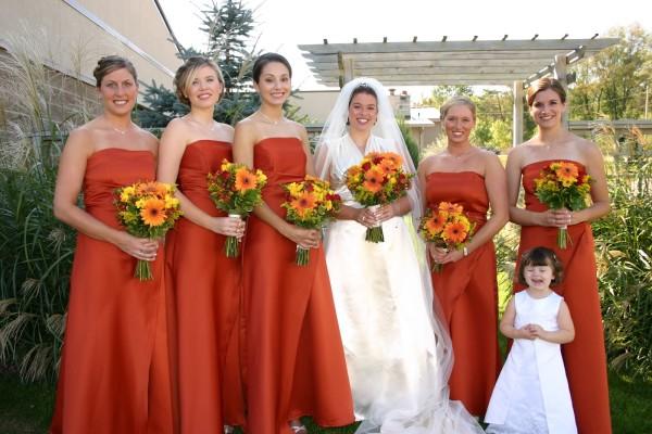 свадьба оранжевая