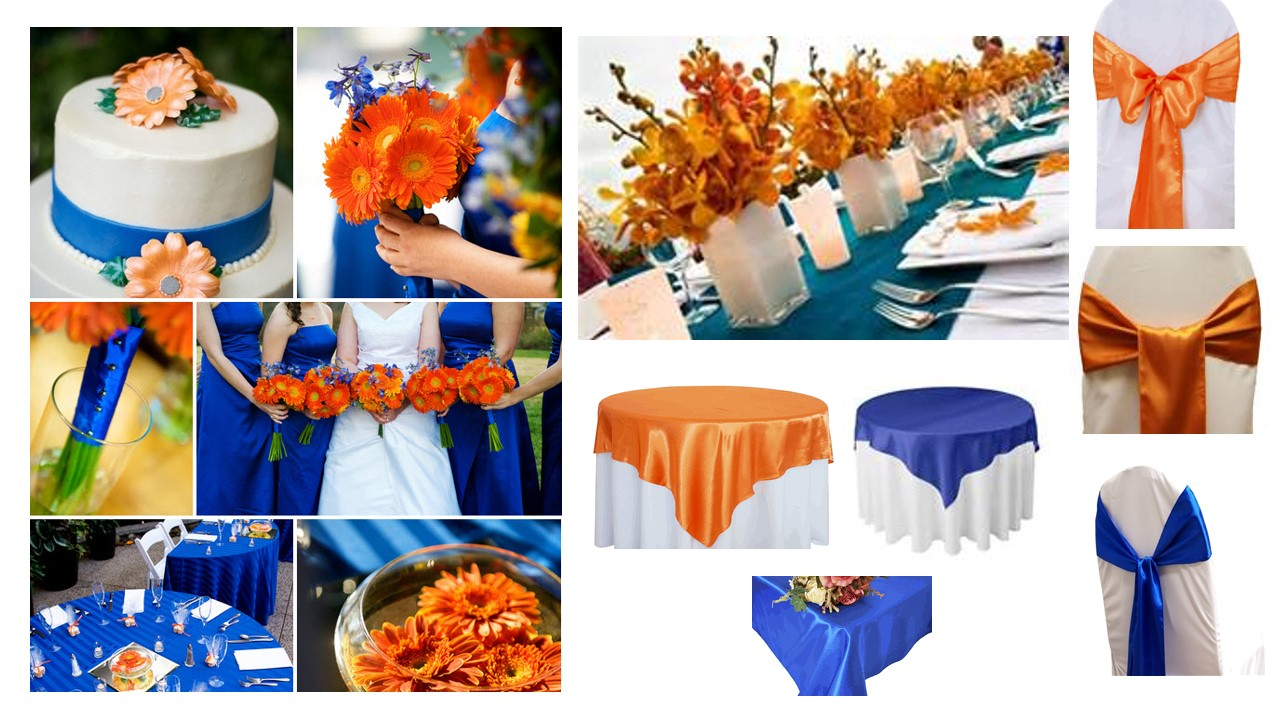Deep Red Burnt Orange And Royal Blue Bouquet For Weddings Accentsandpetals On Artfire