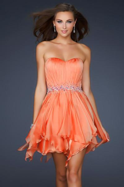 платье оранжевое