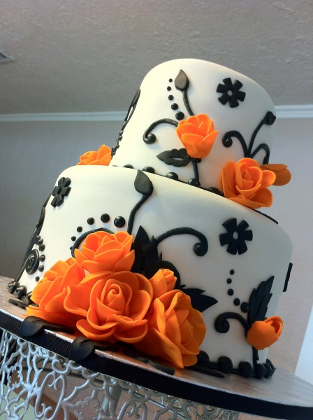 оранжевый торт