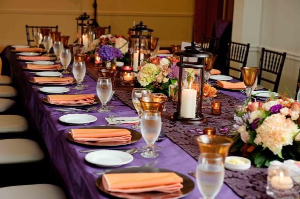 оранжево-фиолетовая свадьба