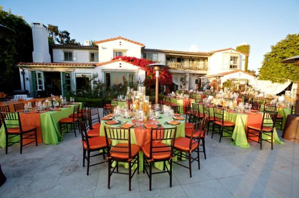 Оранжево-зеленая свадьба