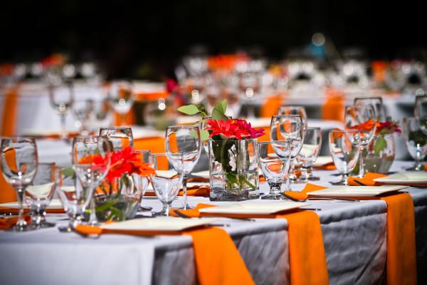 красно-оранжевая свадьба