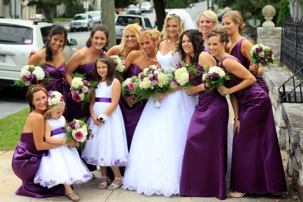 свадьба фиолетовая