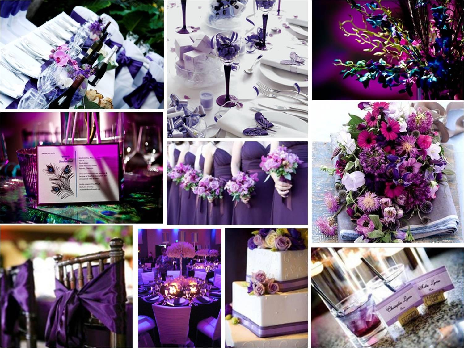 Декор фиолетовый