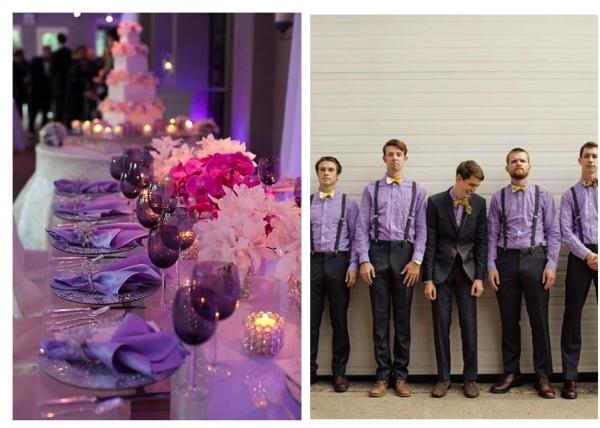 фиолетовый наряд для жениха