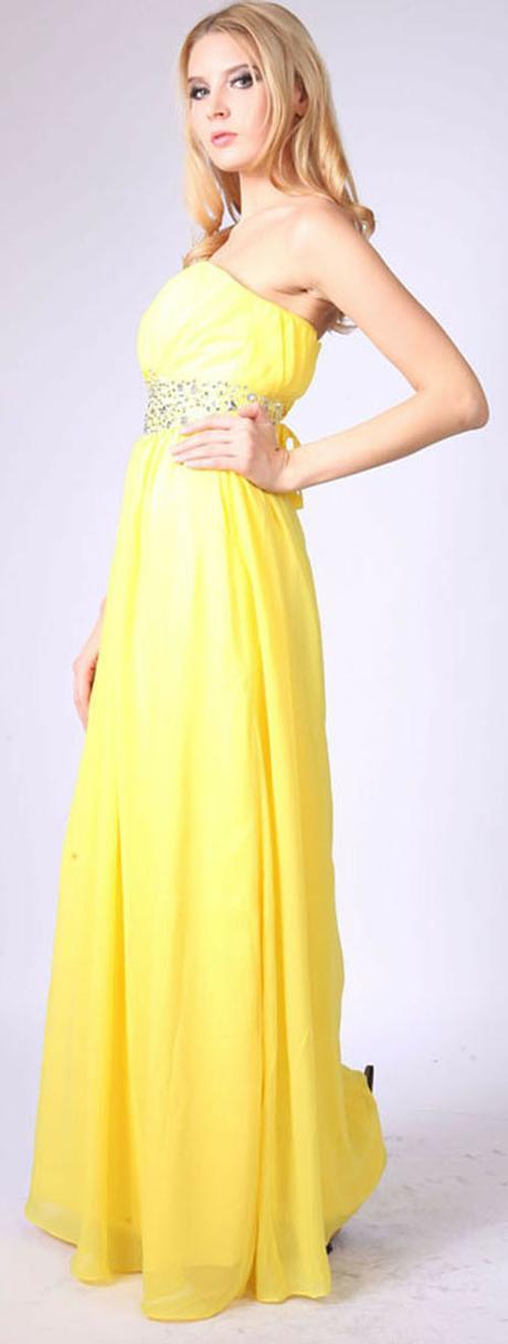 Желтое платье на свадьбу невесте