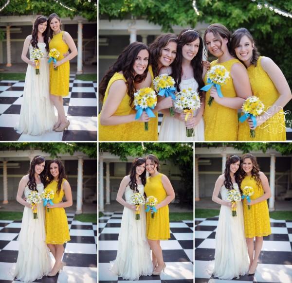 Бирюзово-желтая свадьба