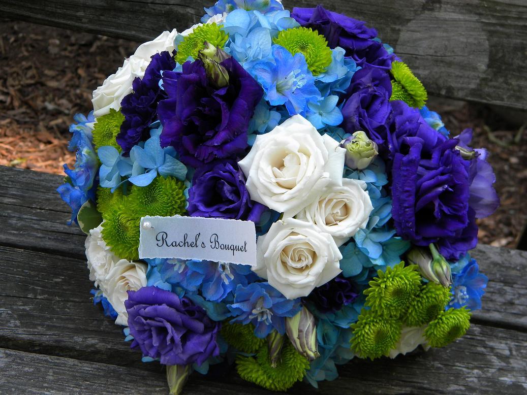 Blue Green Flowers Wedding