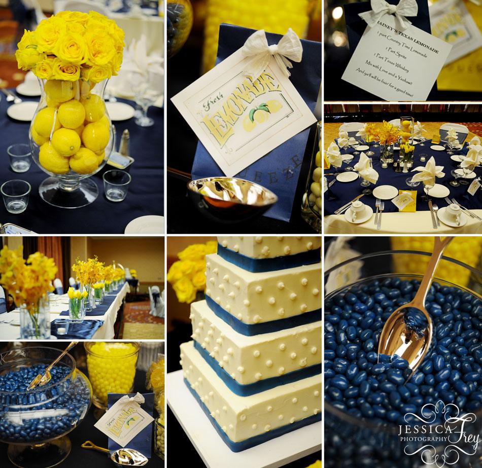 Декор желтым на синем 191