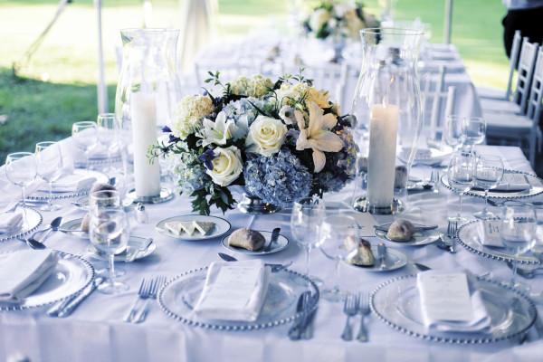 оформление голубой свадьбы