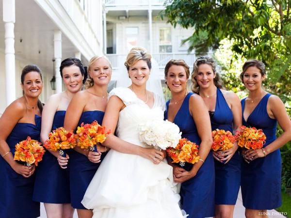 сине оранжевая свадьба