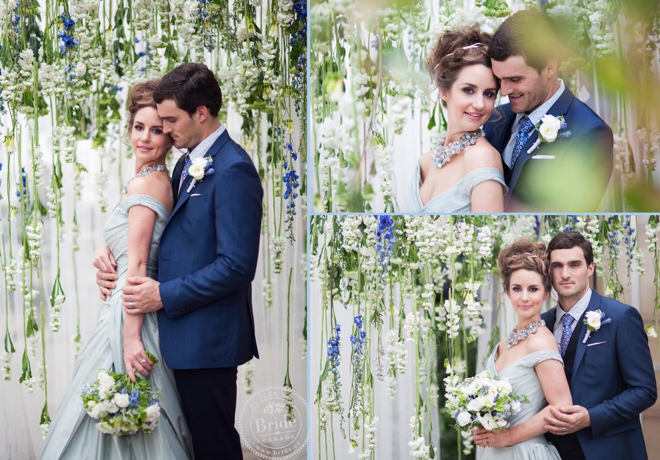 Свадьба в синем цвете платье невесты