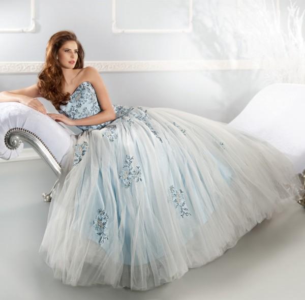 голубое платье на свадьбу