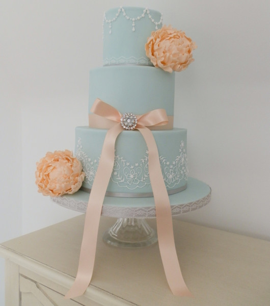 голубой торт