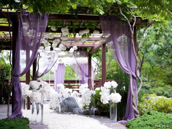 бело фиолетовая свадьба