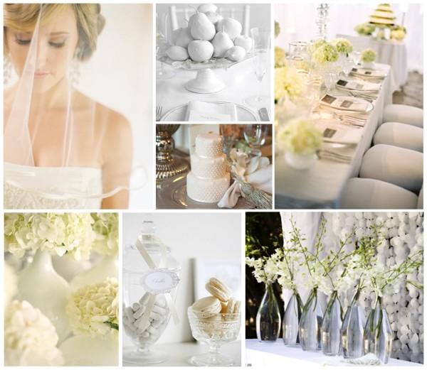 аксессуары на белую свадьбу