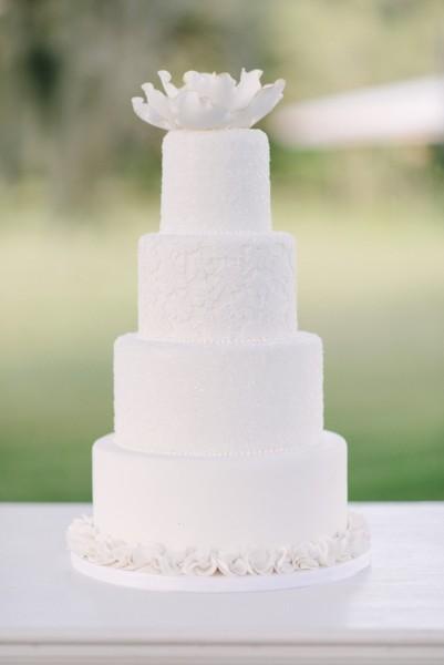 торт на белую свадьбу