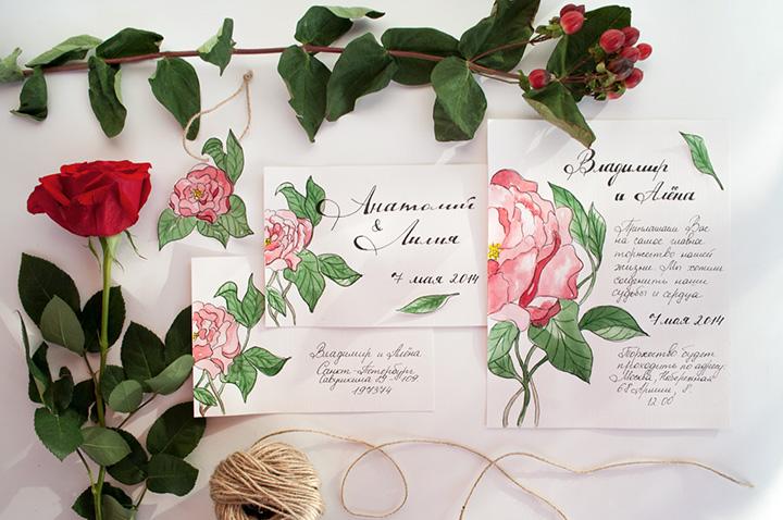 Дизайн приглашений на свадьбу