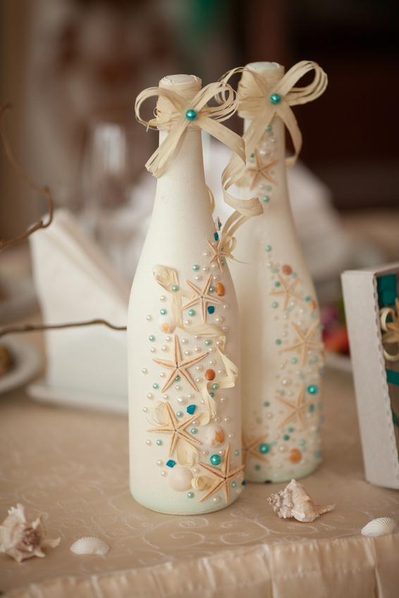 Бутылки шампанского на свадьбу своими руками фото 18