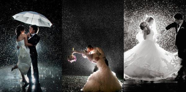 Свадебный танец под дождем