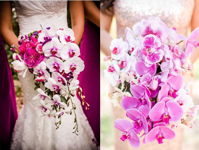 Хризантем малиновые орхидеи в свадебном букете магазин цветов