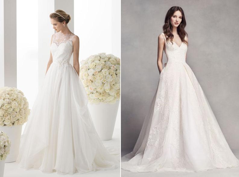 98cf1f6c1cd Такое платье только на первый взгляд выглядит простым. На деле оно способно  выделить все достоинства миниатюрной невесты