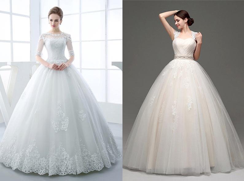 ea7c6b1e25d Свадебные платья с низкой талией способны зрительно вытянуть верх и  укоротить низ
