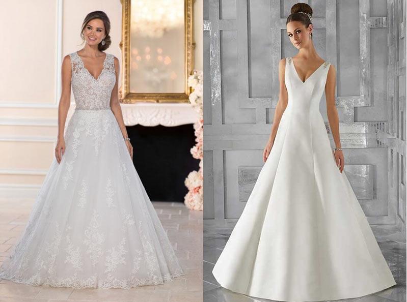 0734230b0f9 Ассиметрия. Похвастаться стройными ножками поможет платье с ассиметричной  юбкой. Подбирая такое свадебное платье