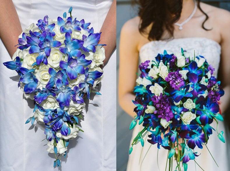 Свадебный букет из синих орхидей фото, доставка букеты до рублей минск